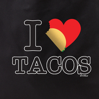 Evilkid I heart tacos tote