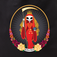 Evilkid Day of the Dead Santa Muerte Tote