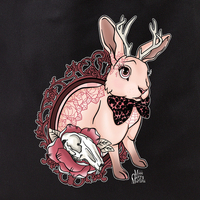 Cherry Martini bunny tattoo tote