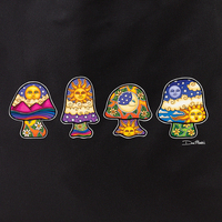 Dan Morris mini mushrooms tote