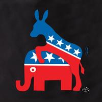 Evilkid Donkey & Elephant Tote