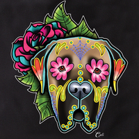 Cali Mastiff Fawn with flowers Tote