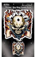 Hot Leathers Cowboy Skull Biker Combo Pack