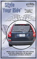 Style Your Ride: Nene Tribal Butterfly Sticker Set