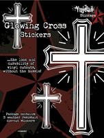 White Glowing Cross Sticker Set