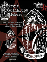 White Virgin de Guadalupe Sticker