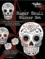 White Sugar Skull Sticker Set