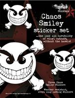 White Chaos Smiley Sticker Set