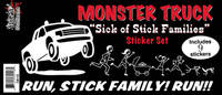 Monster Truck Got Your Stick Family Sticker Set