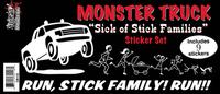 Monster Truck Got Your Stick Family Sticker Set