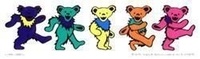 Mini Strip 5 Dancing Bears Grateful Dead Sticker