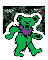 Green Grateful Dead Dancing Bear Sticker
