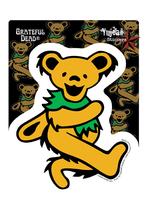 Orange Grateful Dead Dancing Bear Sticker