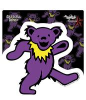Purple Grateful Dead Dancing Bear Sticker