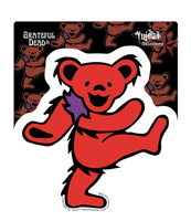 Red Grateful Dead Dancing Bear Sticker