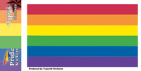 Rectangular Rainbow Pride Sticker