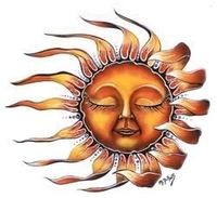 Sleeping Sun Sticker