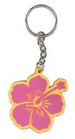 Hibiscus Keychain - Pink/Gold