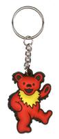 Grateful Dead Dancing Bear Keychain - Red