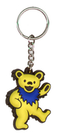 Grateful Dead Dancing Bear Keychain - Yellow