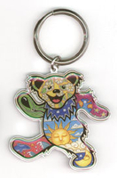 Dan Morris Grateful Dead Dancing Bear Keychain