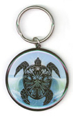 Parting Waves Metal Keychain