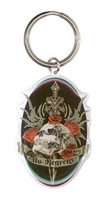 No Regrets Metal Keychain
