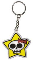 Star Skulli Rubber Keychain