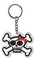 Skulli Pirate Rubber Keychain