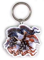 American Heritage Biker Metal Keychain