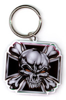 Skull Cross Metal Keychain