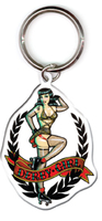 Kirsten Easthope Derby Girl Metal Keyring