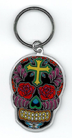 Sunny Buick Rose Cross Sugar Skull Sticker