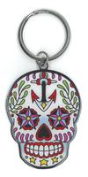 Sunny Buick Ancre Sugar Skull metal keychain