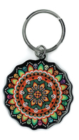 Evilkid Day of the Dead Mandala keyring