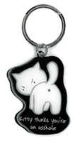Evilkid Kitty Asshole keyring
