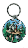 Alice and the Smoking Caterpillar Keyring