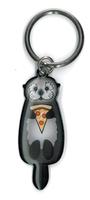 Cali's Otter Pizza Keyring