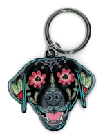 Pretty in Ink Labrador Keyring