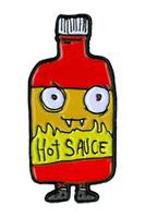 Dr. Krinkles Hot Sauce Enamel Pin