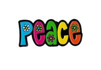 PEACE w/ Flowers Enamel Pin