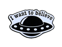 Believe Spaceship Enamel Pin