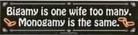 Bigamy Is...Bumpersticker