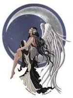 Nene's Angel Fairy on a Crescent Moon Sticker
