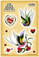 Adam Potts Swallow Tattoo Multi-Pak Sticker