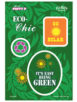 CLOSEOUT: Puffy P Eco-Chic Green Multi-Pak Stickers