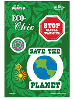 CLOSEOUT: Puffy P Eco-Chic Planet Multi-Pak Stickers