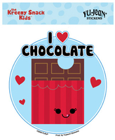 CLOSEOUT Kreemy Snack Kids I Heart Chocolate Sticker