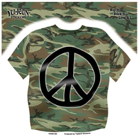 CLOSEOUT: Camo Peace Sign Shirt Sticker