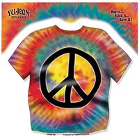 Tie Dye Peace Shirt Sticker